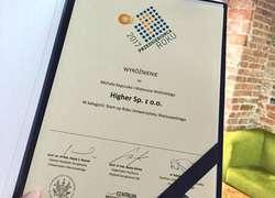 Higher Przedsiębiorca Roku 2017 WZ UW